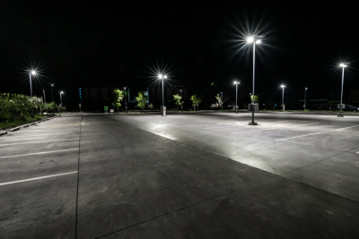 Parking Lot Lighting Installation